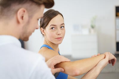 elbow injury and doctor